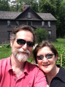 Me and Dolores at Orchard House, Concord, Mass.